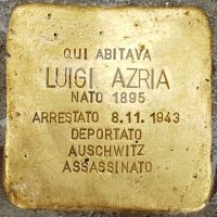 Luigi Azria - Pietre d'inciampo - Milano -2021