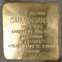 Carlo Bianchi - Pietre d'inciampo - Milano -2021