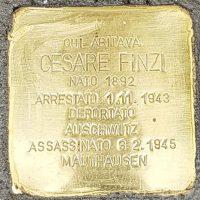 Cesare Finzi - Pietre d'inciampo - Milano -2021