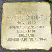 Angelo Colombo - Pietre d'inciampo - Milano -2021