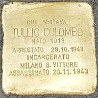 Tullio Colombo - Pietre d'inciampo - Milano -2021
