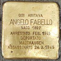 Angelo Fabello - Pietre d'inciampo - Milano -2021