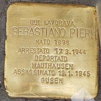 Sebastiano Pieri - Pietre d'inciampo - Milano -2021