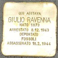 Giulia Ravenna - Pietre d'inciampo - Milano -2021