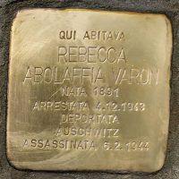 Rebecca Abolaffia Varon - Pietre d'inciampo - Milano -2021