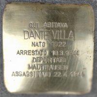 Dante Villa- Pietre d'inciampo - Milano -2021